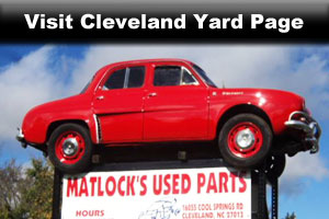 Matlock's used auto parts locations in Cleveland NC Page